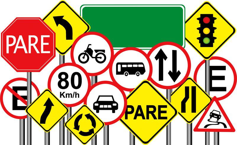 6 – Olhar demais para as placas de sinalização