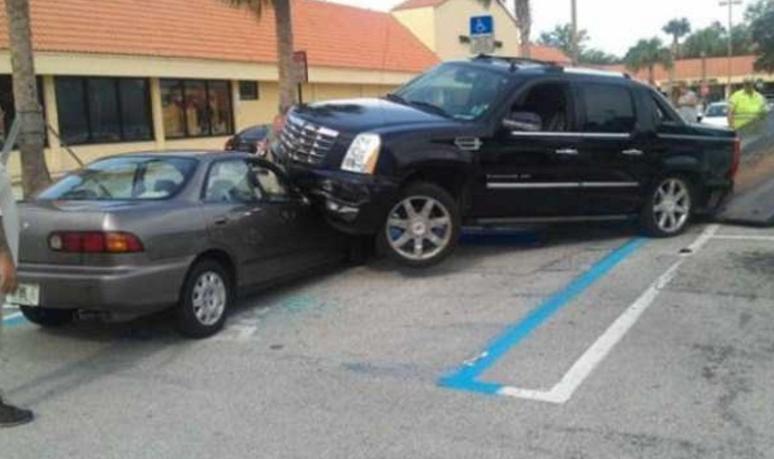 Estacionando na vaga errada