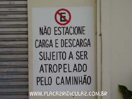 Não estacione