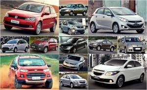 Confira os 10 carro mais vendidos em abril