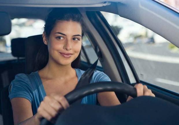 Mulher no volante