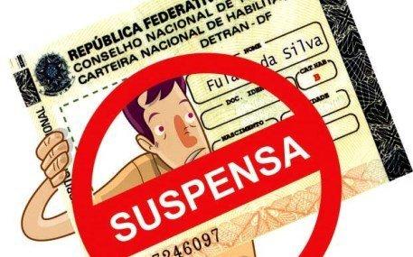 Condutores têm CNH em processo de suspensão e não sabem.